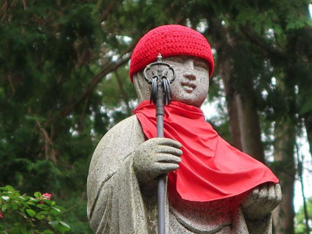 大悲願寺のお地蔵さんの帽子