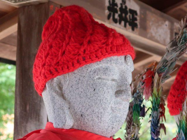 成就院のお地蔵さんの帽子